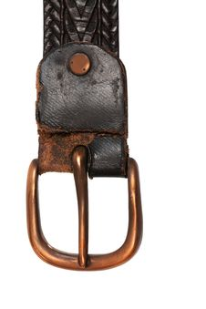 Free Belt With Copper Buckle Stock Photography - 7926102