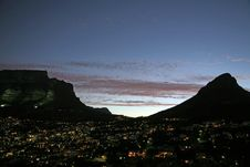 Free Cape Town At Dusk Stock Images - 7926104