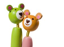 Free Teddy Couple On White Royalty Free Stock Photography - 7927867