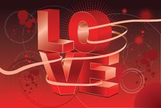 Free Vector Art Love Backround Artwork Stock Image - 7927971