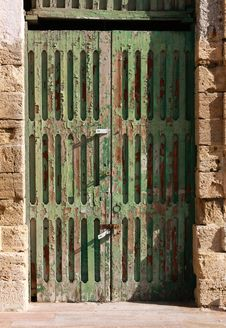 Free Old Green Door Royalty Free Stock Photography - 7928057