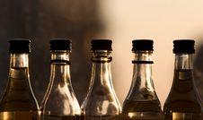 Five Bottles Stock Photos