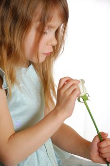 Free Child With A Rose Stock Photo - 7928400