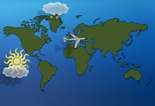 Free Flying Over The World Royalty Free Stock Image - 7928946