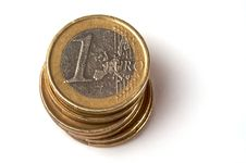 Free A Stack Of Euro Coins Stock Photography - 7929032