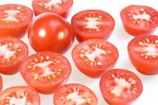 Free Tomatoes On White Royalty Free Stock Photos - 7929248
