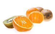 Kiwi And Tangerine Royalty Free Stock Photography