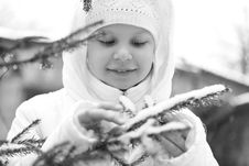 Free Girl On Winter Vacation Stock Photo - 7929440