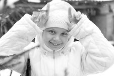 Free Girl On Winter Vacation Stock Photography - 7929452