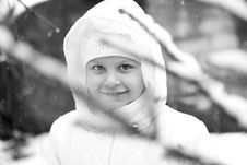 Free Girl On Winter Vacation Stock Photography - 7929472