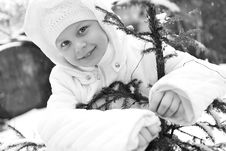 Free Girl On Winter Vacation Stock Photography - 7929652