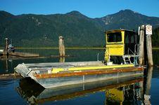 Barge Docked At Pitt Lake Stock Photos