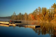 Free Dock At Sunrise Over Beautiful Lake Royalty Free Stock Photos - 7929888
