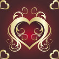 Free Abstract Floral Banner With Heart Stock Photo - 7931410