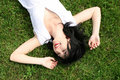 Free Woman Rest On The Grass Royalty Free Stock Photography - 7931427