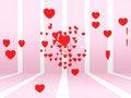 Free Explosion Of Hearts Royalty Free Stock Photos - 7932018