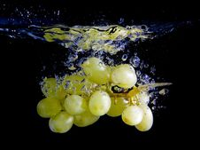 Free Splashing Grapes Stock Image - 7930541
