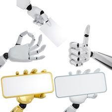 Free Set Of Robotic Hands Royalty Free Stock Photography - 7930617