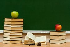 Free Books Are Apples And Tube Stock Photo - 7930630