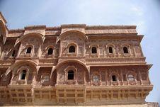 Windows In Jodhpur Fort, Rajasthan Royalty Free Stock Photo