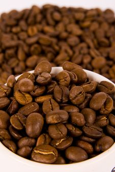 Free Coffee Beans In A Cup Royalty Free Stock Photography - 7932077