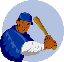 Free Baseball  Player Royalty Free Stock Photo - 7932455