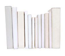 Row Of White Books Royalty Free Stock Photos