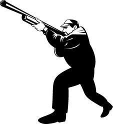 Free Hunter Aiming A Shotgun Stock Image - 7932551