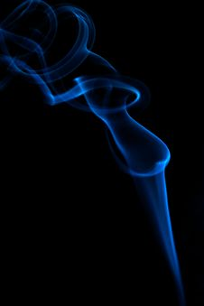 Free Blue Smoke On Black Stock Photo - 7932560