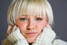 Free Lovely Blond Woman With A Serious Look Royalty Free Stock Images - 7934529