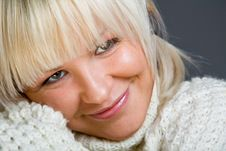 Free Close-up Portrait Of Lovely Blond Woman Stock Image - 7934531
