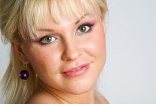 Free Close-up Portrait Of Lovely Blond Woman Stock Photos - 7934533