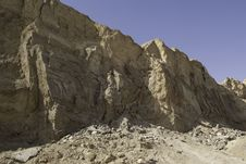 Mt. Sodom Cliff Royalty Free Stock Images