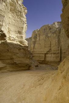 The Perazim Canyon. Royalty Free Stock Photos