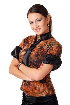 Free Beautiful Brunet Woman Stock Photography - 7935732