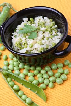Free Rice With Green Pea Stock Images - 7935834