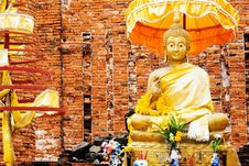 Monument Of Buddha, Ruins Of Ancient Temple Stock Image
