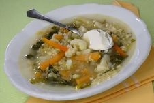 Free Vegetable Soup Royalty Free Stock Photography - 7935907
