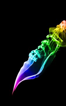 Free Abstract Smoke Isolated On Black Stock Photo - 7936020