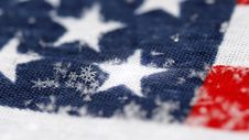 Free Snowflakes On A Background A Flag Royalty Free Stock Image - 7937486