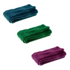 Three Color Towels Stock Photo