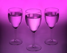 Free Three Modern Glasses Royalty Free Stock Images - 7938239