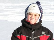 Free Smiling Boy Snow In Winter Royalty Free Stock Images - 7938429