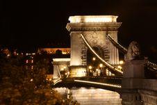 Széchenyi Chain Bridge Stock Photography