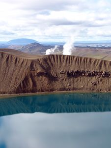 Volcano Crater 01 Royalty Free Stock Photo