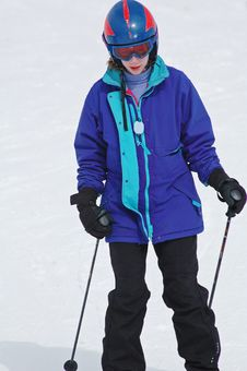 Free Girl Skiing Stock Photography - 7938562