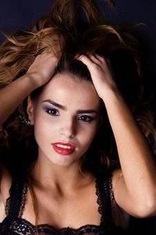 Free Sensual Portrait Of A Beautiful Brown-haired Woman Stock Photos - 7938593