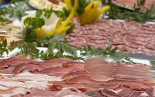 Free Cutting Spanish Ham And Cured Meat Stock Photography - 7939232