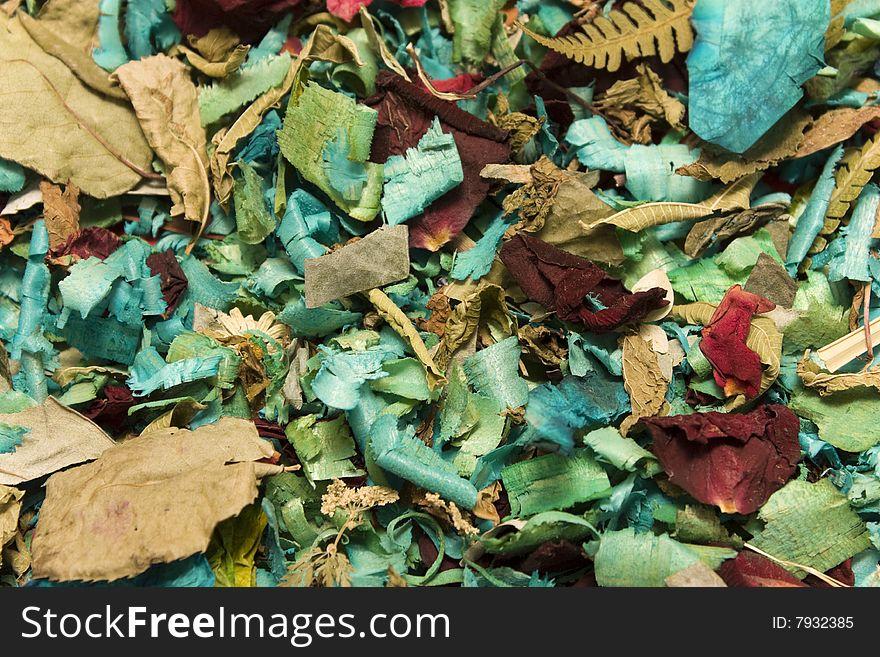 Dry petal background