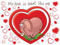 Free The In Love Pink Elephant With Hearts Royalty Free Stock Image - 7944246